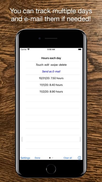 Time Clock Helper screenshot-3