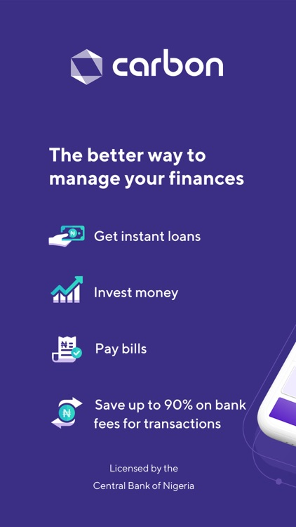 Carbon: fast loans and banking screenshot-0