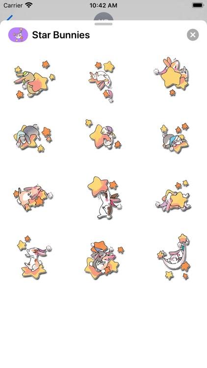 Star Bunnies Stickers