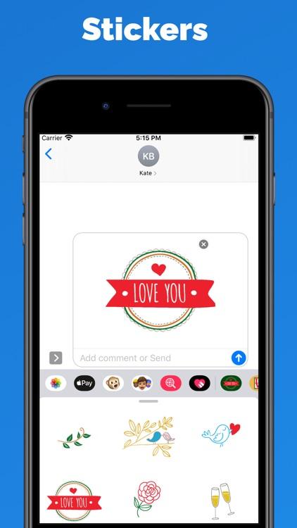 Love & hearts stickers & emoji