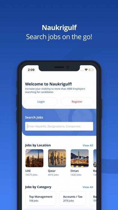 Screenshot #1 pour Naukrigulf Job Search App