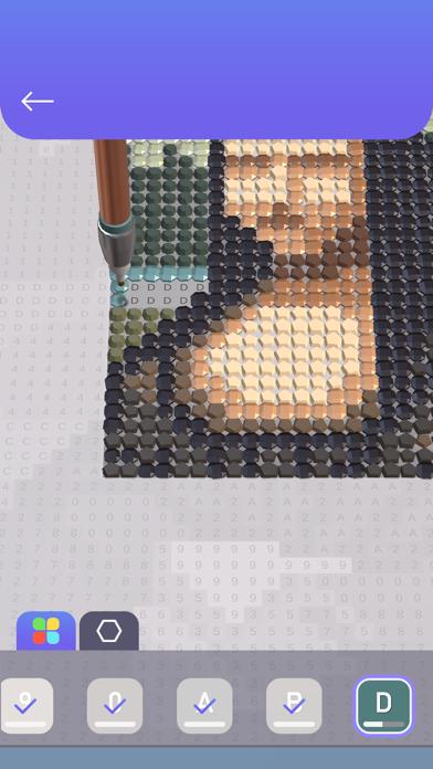 Diamond Painting ASMR Coloring screenshot 2