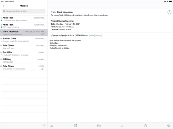 Screenshot #4 pour GW Mailbox