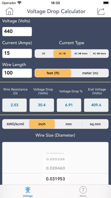 Voltage Drop Calculator. screenshot-3
