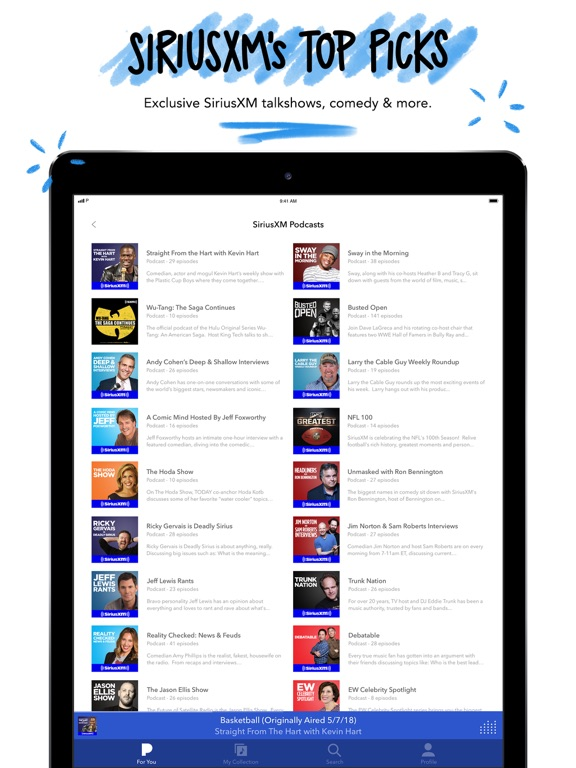 Pandora: Music & Podcasts iPad