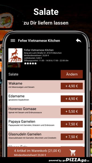 Fefee München Lieferservice screenshot 5