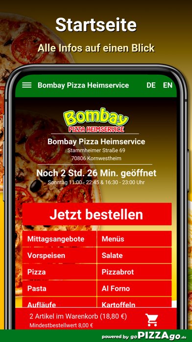 Bombay Pizza Kornwestheim screenshot 2