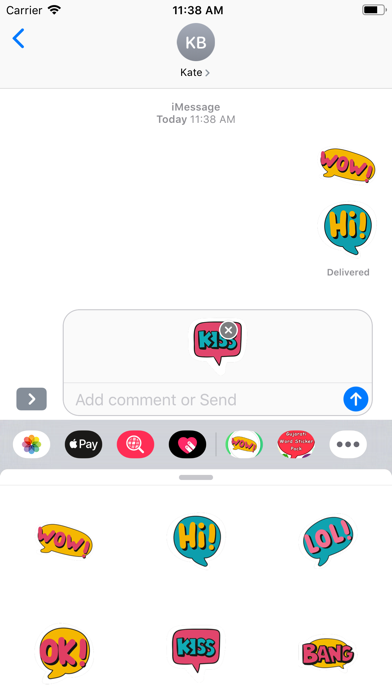 English Chat Stickers screenshot 3