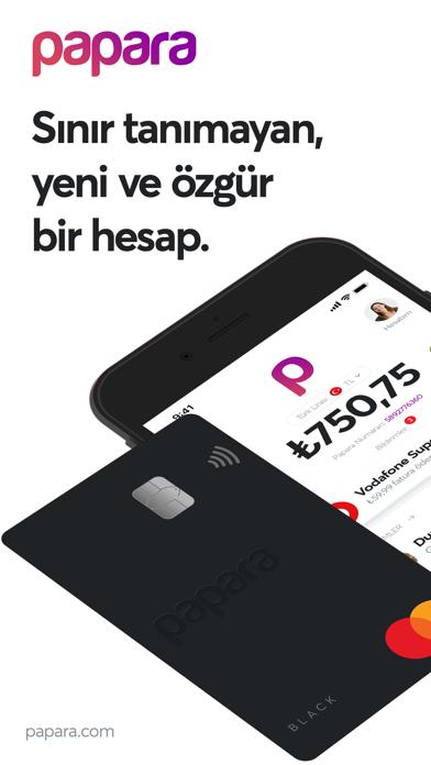 Papara iphone ekran görüntüleri