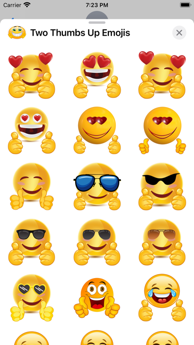 Two Thumbs Up Emojis screenshot 5