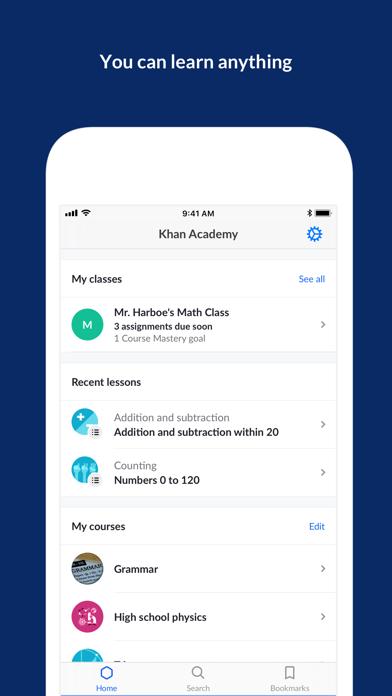 messages.download Khan Academy software