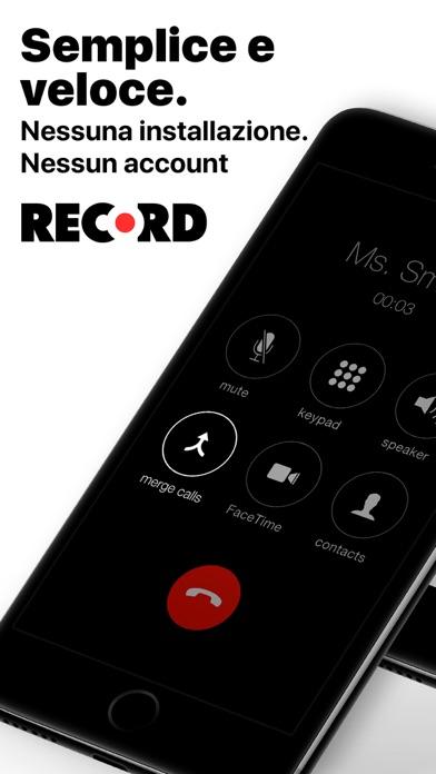 Screenshot of Registratore chiamate: WeRec4