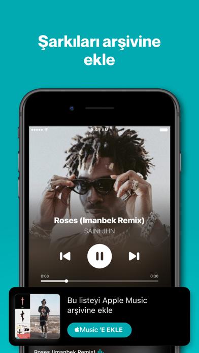 Shazam iphone ekran görüntüleri
