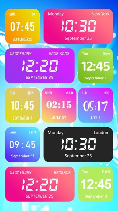 カラーデジタル時計ウィジェットのおすすめ画像1