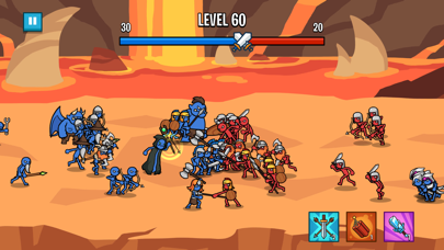 Stick Wars 2: Battle Legions Screenshot on iOS