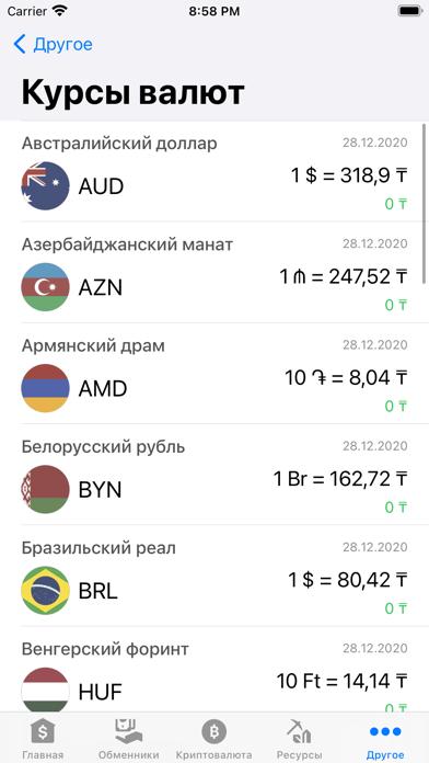 Курсы валют КазахстанаСкриншоты 9