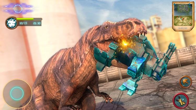 Dinosaur Robot Shooting Battle screenshot-4