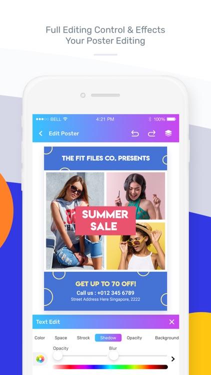 Poster Maker - Flyer Maker screenshot-5