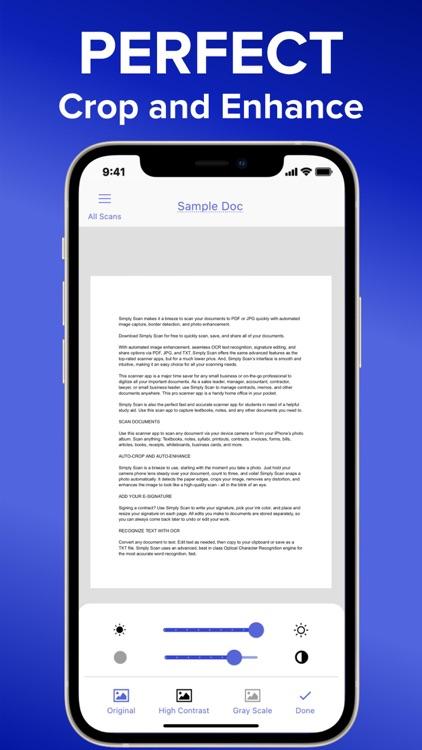 Simply Scan - PDF Scanner OCR screenshot-4