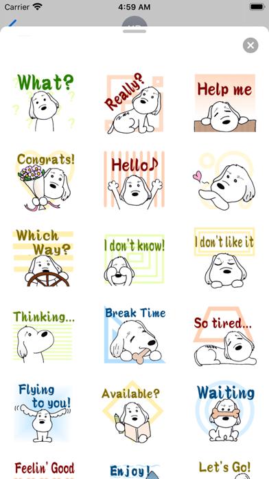 Cute PBGV Dog Petit Sticker screenshot 2