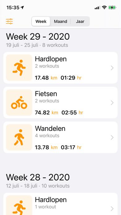 My Workout Stats screenshot 1