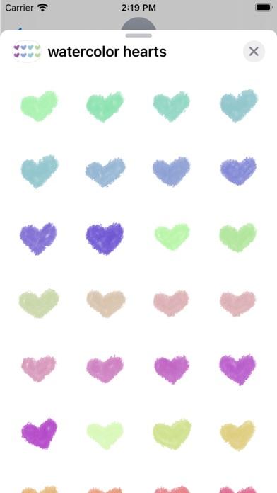 Watercolor Hearts Stickers screenshot 2