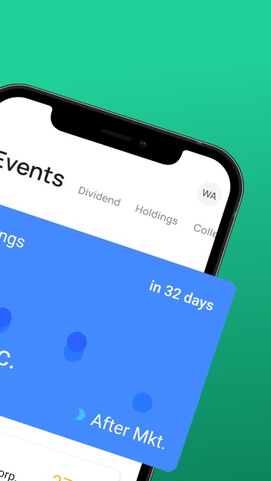 Stock Events Screenshot