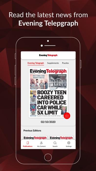 Evening Telegraph ePaperScreenshot of 1