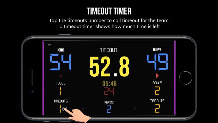 BT Scoreboard - Basketball screenshot-3