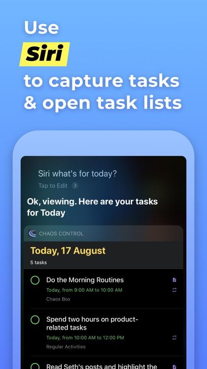 Chaos Control™: GTD Task List screenshot-8