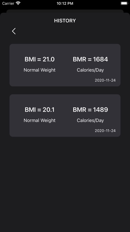 BMI Calculator + BMR