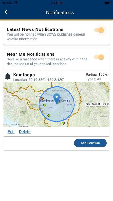BC Wildfire Service screenshot 1