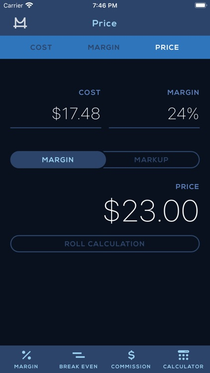 Cost Margin Calculator