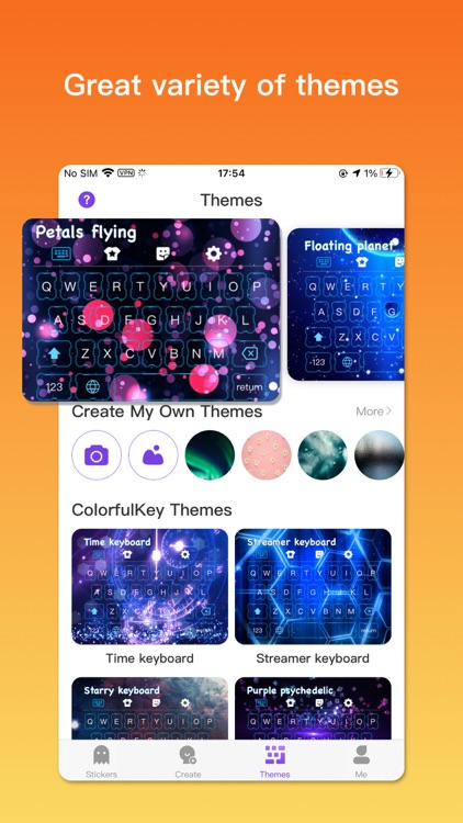 Colorful Stickers & Keyboard screenshot-3