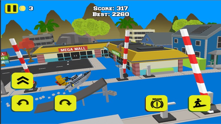 WATER BIKE STUNT RACE GAMES 3D screenshot-0