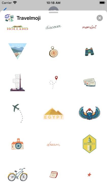 Travelmoji Stickers screenshot-7