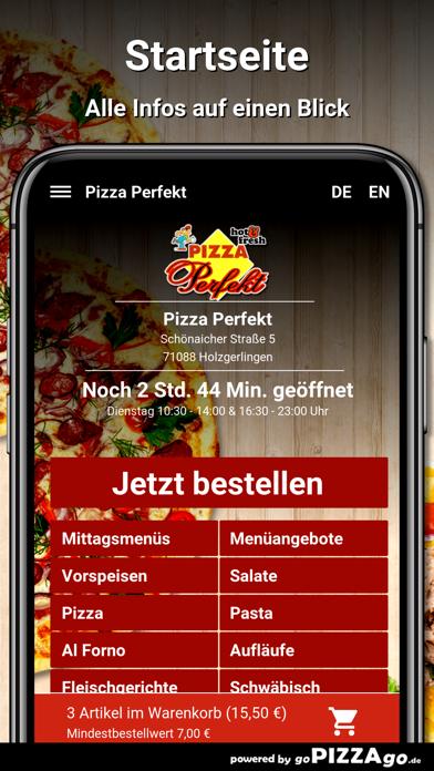 Pizza Perfekt Holzgerlingen screenshot 2