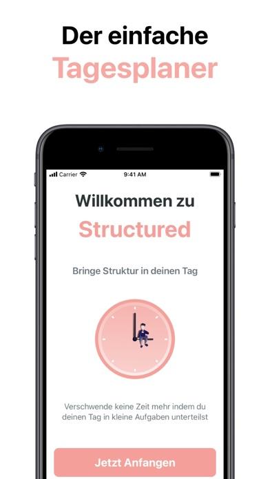 Structured - TagesplanerScreenshot von 1