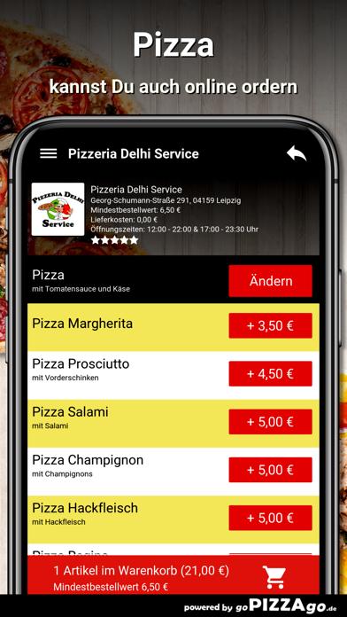 Pizzeria Delhi Service Leipzig screenshot 5