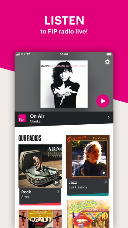 Fip – radio & music streams screenshot-0