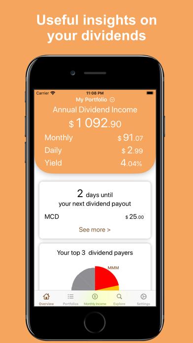 Dividend Tracker° Screenshot