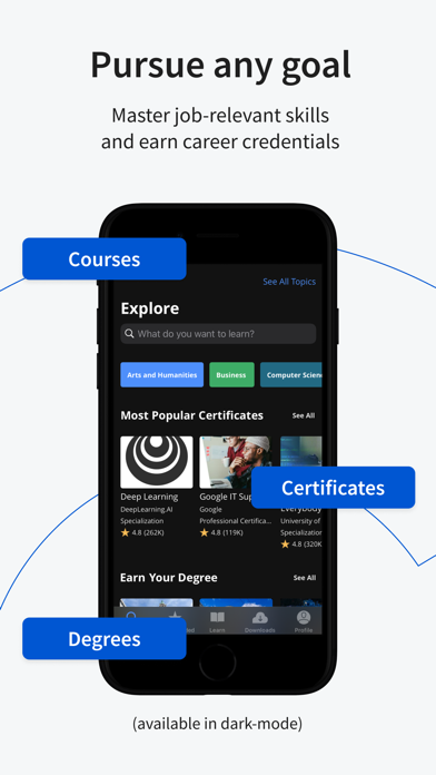 Coursera: Learn new skills Screenshot