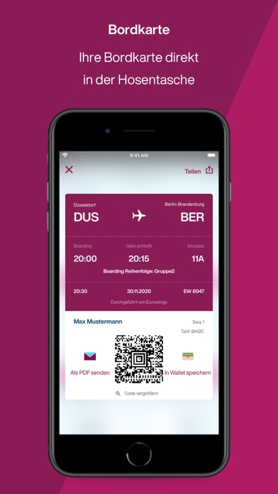 messages.download Eurowings software