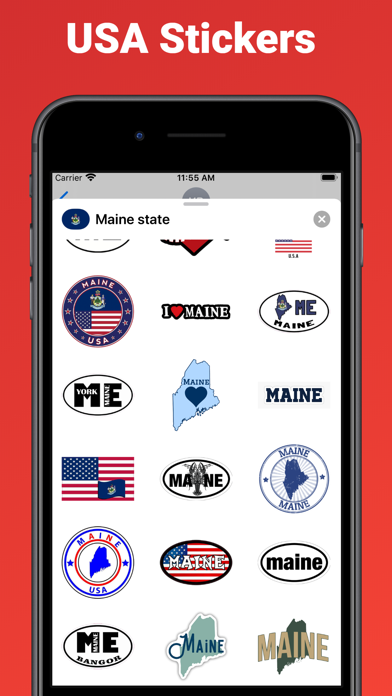 Maine state - USA stickers screenshot 2