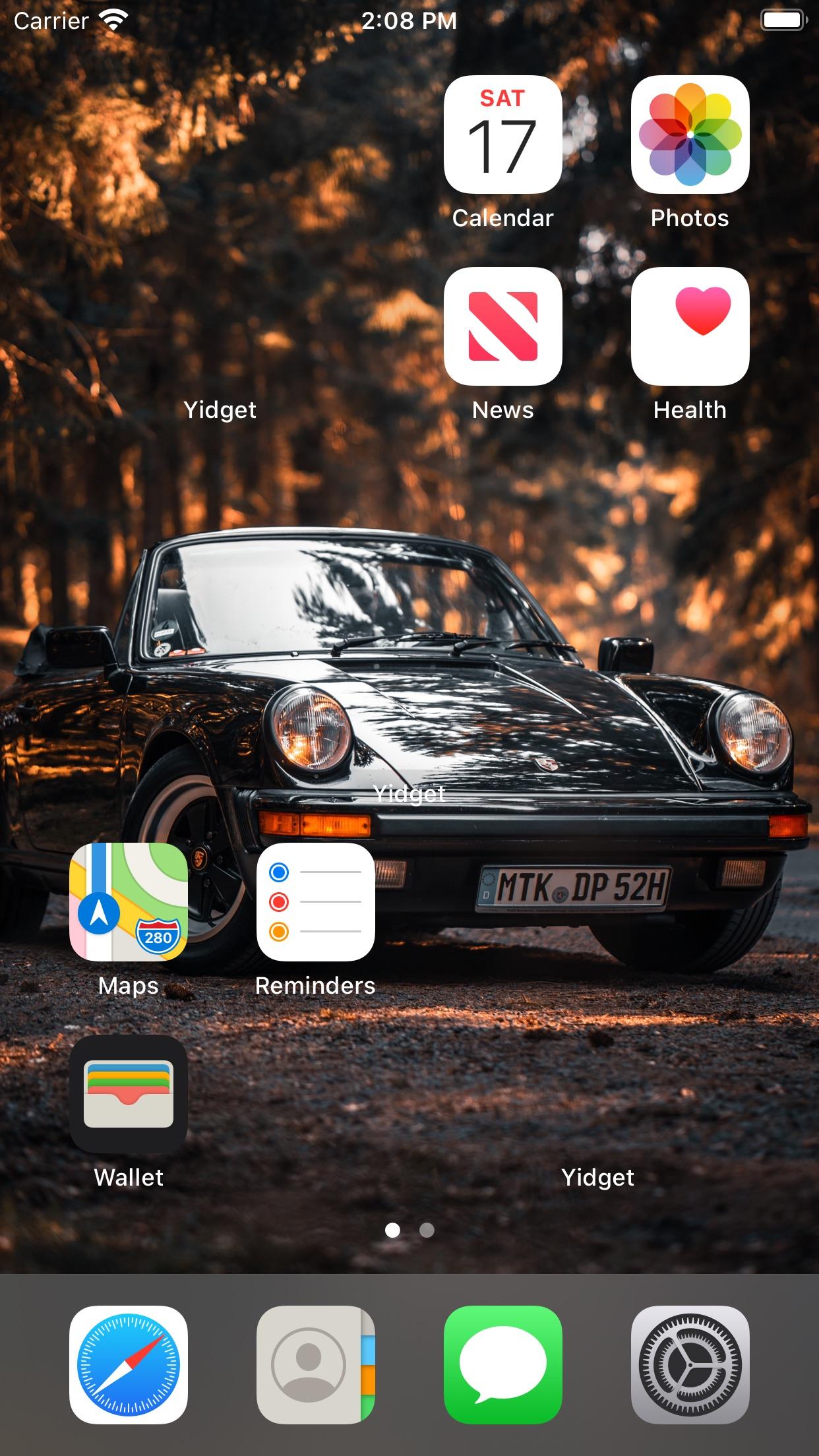 Screenshot do app Yidget - Transparent widget