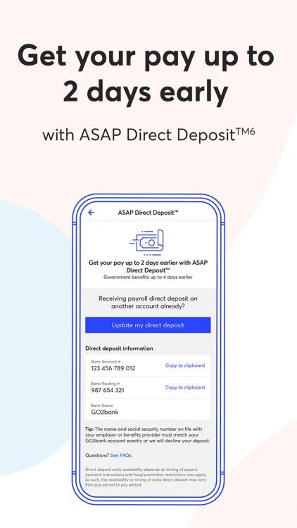 GO2bank: Mobile banking screenshot-6