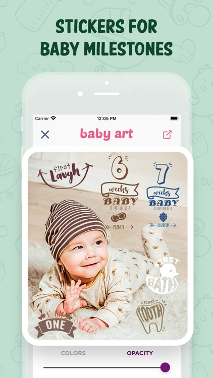 Baby Art-Baby Monthly Pictures screenshot-4