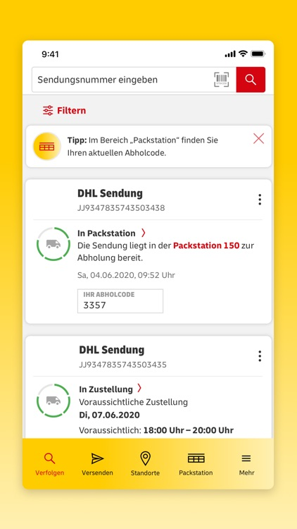 DHL Paket screenshot-1