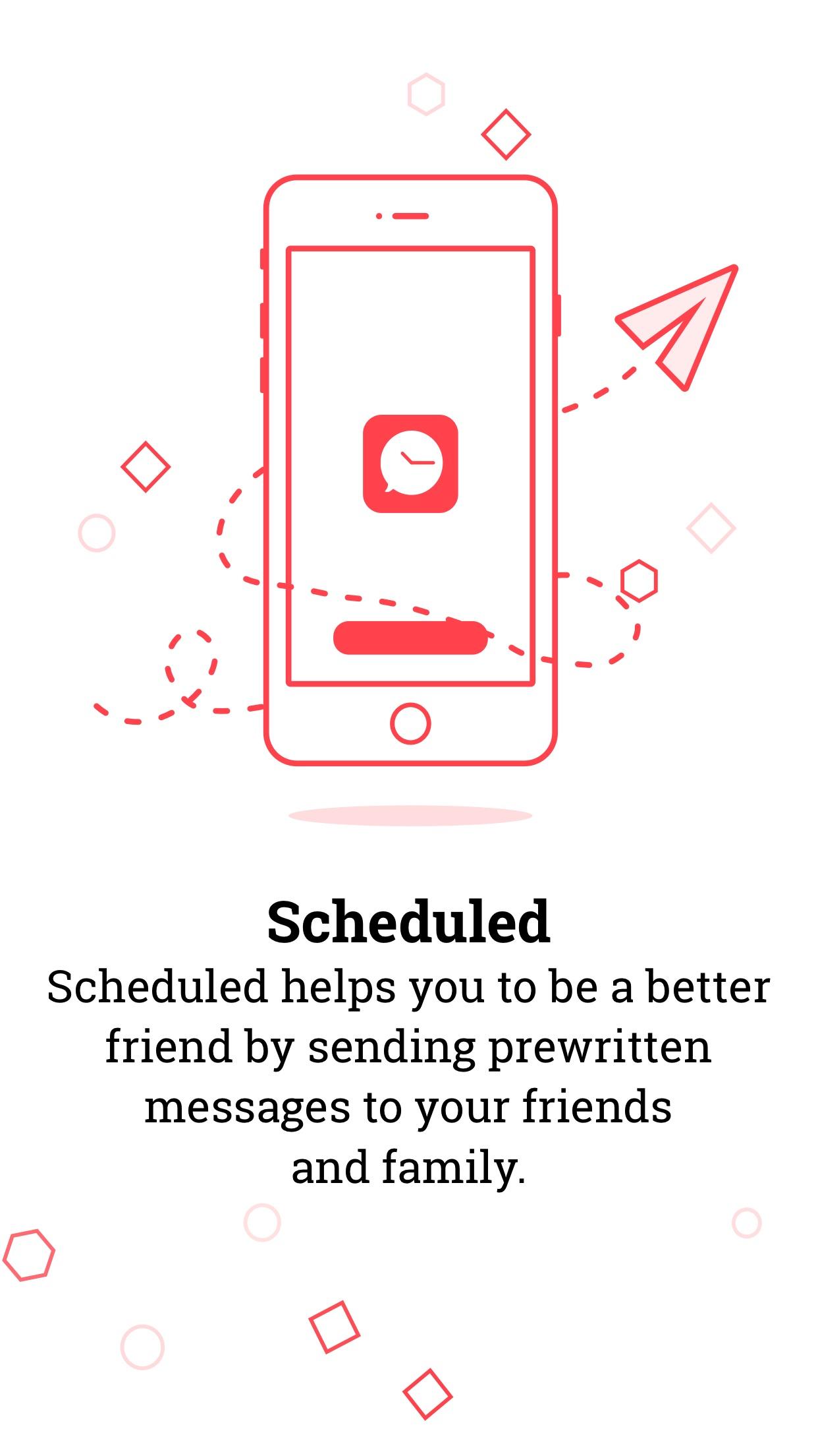 Screenshot do app Scheduled