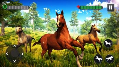 野生の馬の家族の生存3D紹介画像4